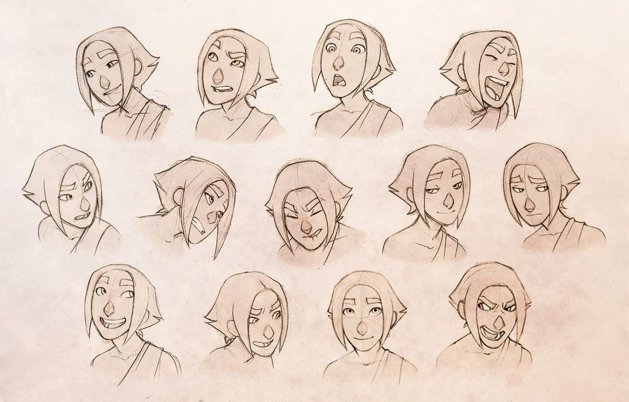 Character Design Expression : Character expressions by conniiption on deviantart