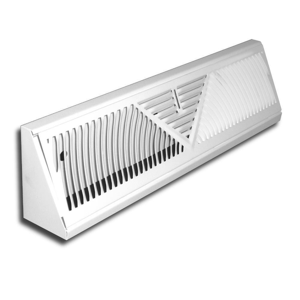 Truaire 15 In Baseboard Diffuser Supply H115sw The Home Depot