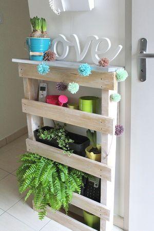Jardin d\u0027intérieur en palette - palet garden - Mumuche home Crafts - Bricolage A La Maison