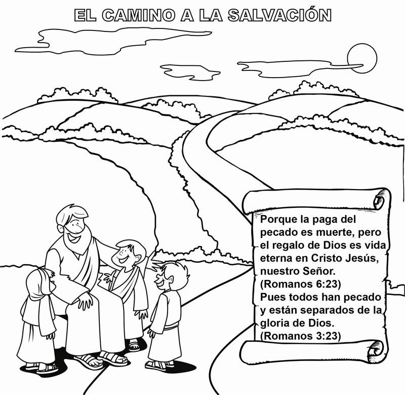 road coloring page. The Roman Road Coloring Card Spanish  Cards and Tracts