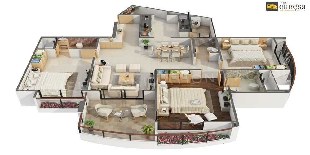 17 Best images about 3D Floor Plan on Pinterest Dubai Studios