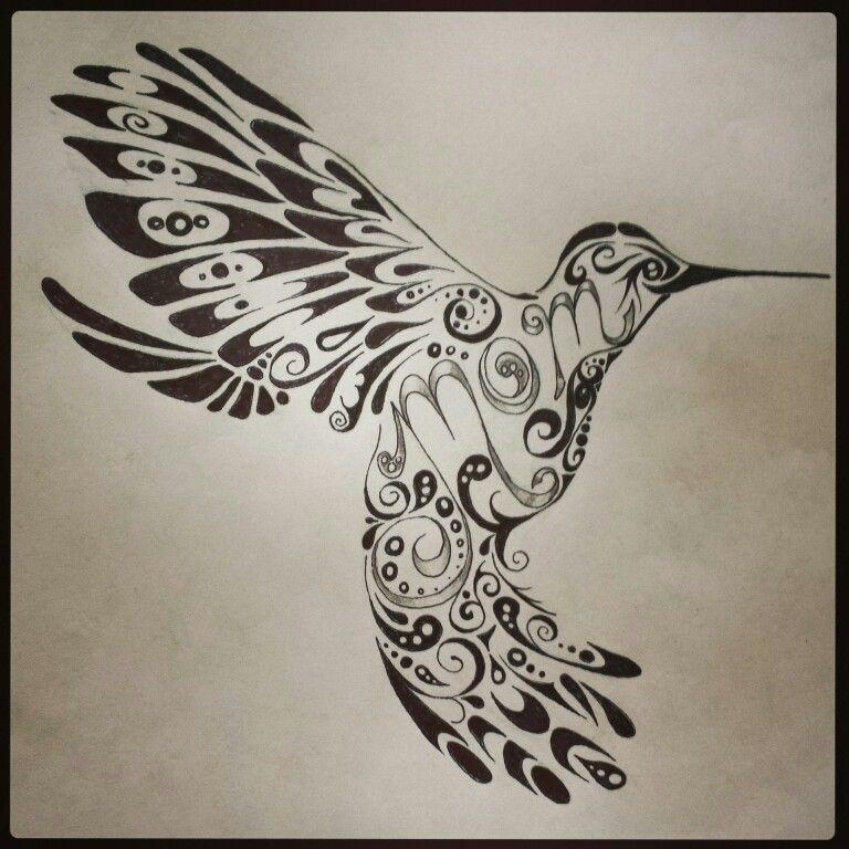 98e718a4f Hummingbird tattoo , mom tattoo , tribal tattoo , tattoo design by Chelsie  Haeg