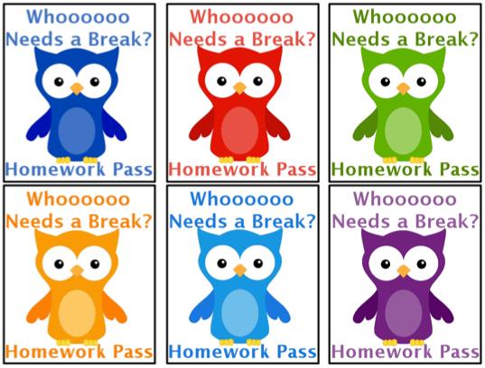 3 6 free resources homework pass freebie what a hoot