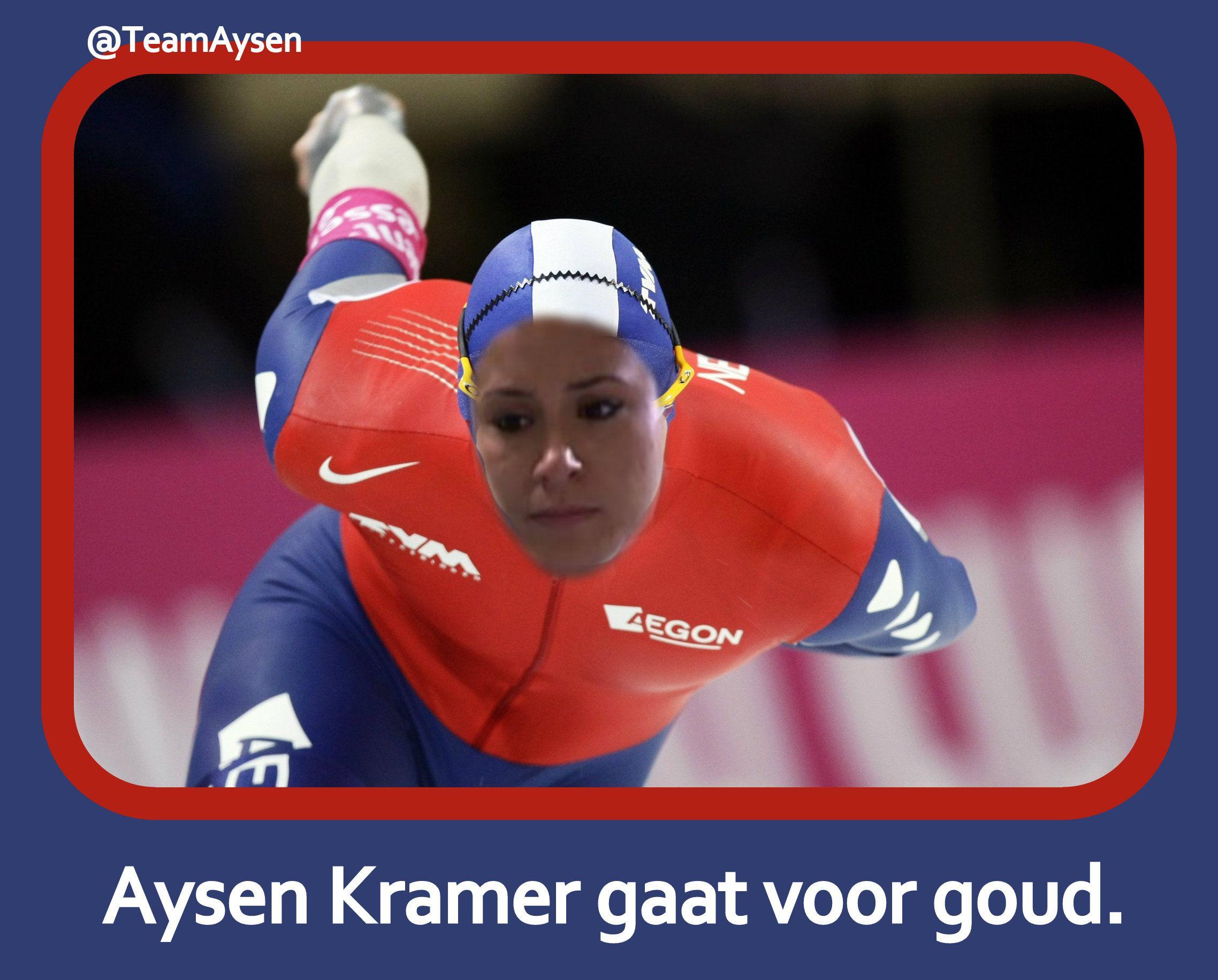 Aysen Kramer gaat voor goud.