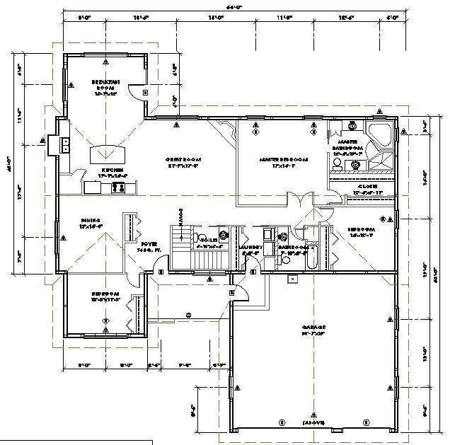 102 1527 Floor Plan 1 Metal House Plans House Floor Plans Modular Home Floor Plans