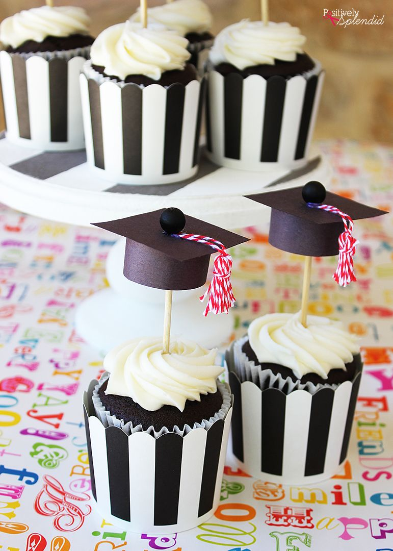 Graduation Cap Cupcake Toppers Easy And Adorable Diy Craft