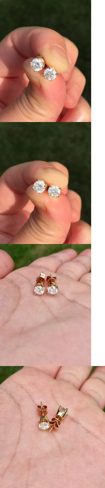 Diamond 10986: E Vs 1.0Tcw Natural Diamond Stud Earrings In Solid ...