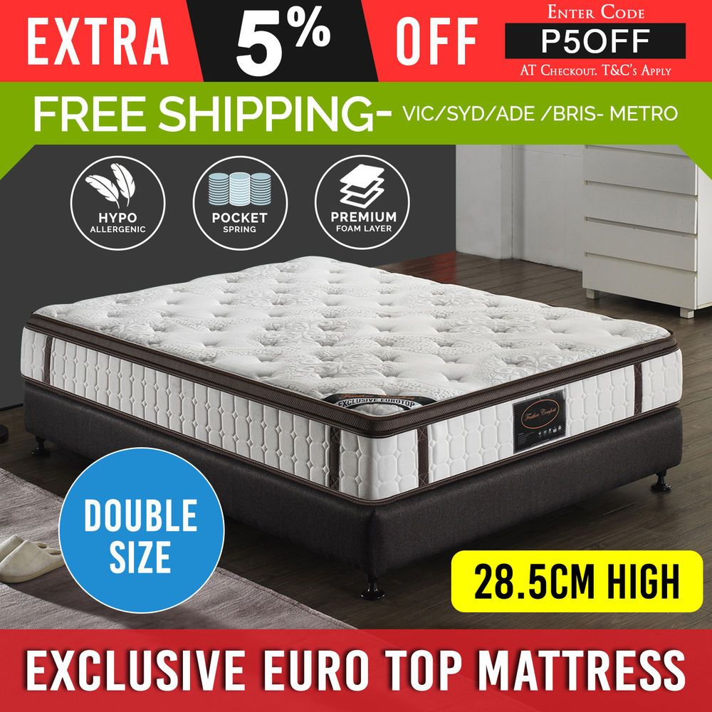 Details About Mattress Double Knitted Fabric Bed Latex Foam