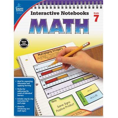 Carson-Dellosa 104911 Grade 7 Math Interactive Notebook #104911 #CarsonDellosa #TAALearningBooks  https://www.officecrave.com/carson-dellosa-104911.html