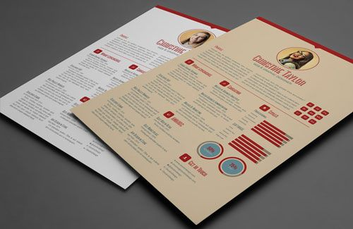 8 sets of free indesign cv  resume templates