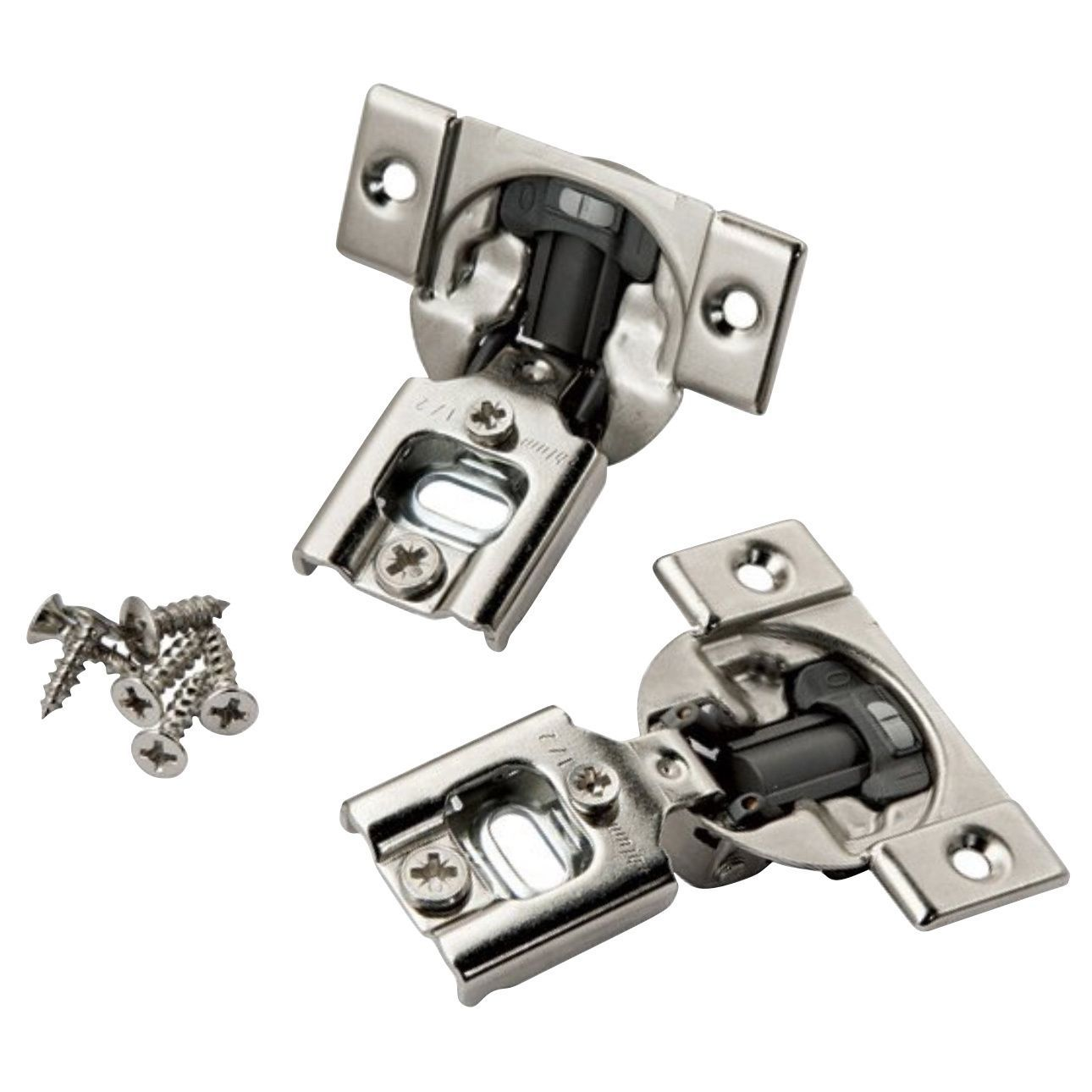 Rok Hardware 10 Pack Blum 105 Degree Compact 38n Series Blumotion 1 2 Overlay Screw On Soft Closing Cabinet Hinge 10 Pack Compact Blumotion 1 2 Ol Hinges For Cabinets Overlay Hinges Hardware