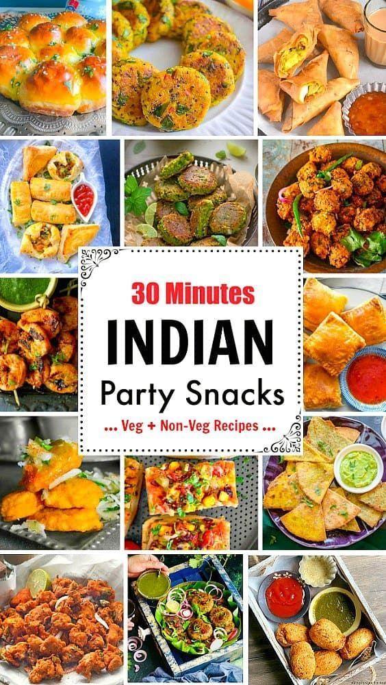 30 Minutes Indian Party Snacks  Veg   Non Veg Reci