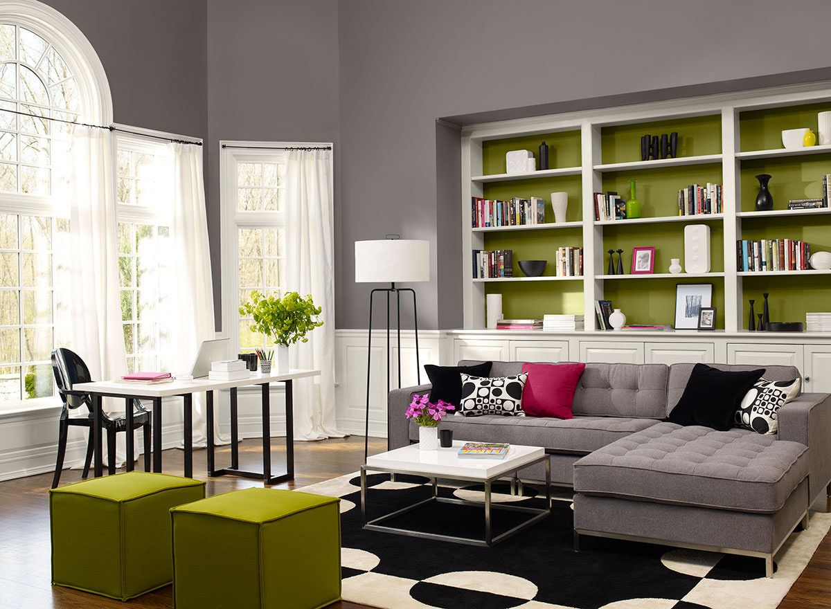 Decorating Living Room Interior Paint Color Schemes With White Color  Interior Decorating Ideas Design Gray Wooden