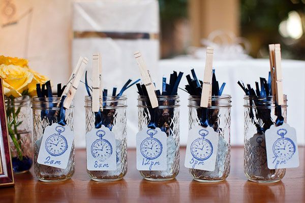 Wedding Gift Clock: Around-the-Clock Themed Bridal Shower