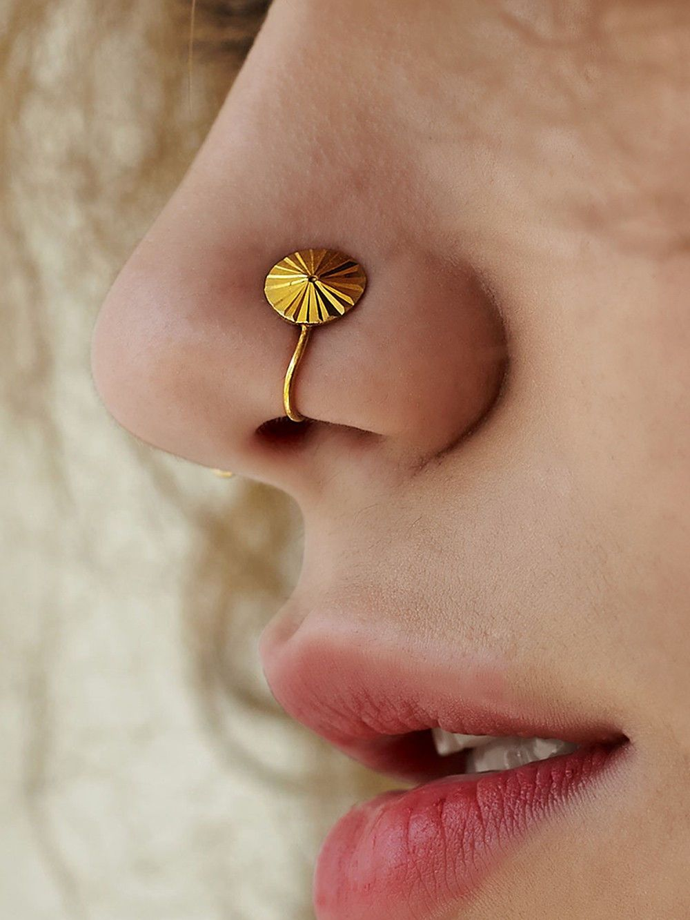 Gold Plated Silver Classic Nose Ring Nose Jewelry Gold Plated