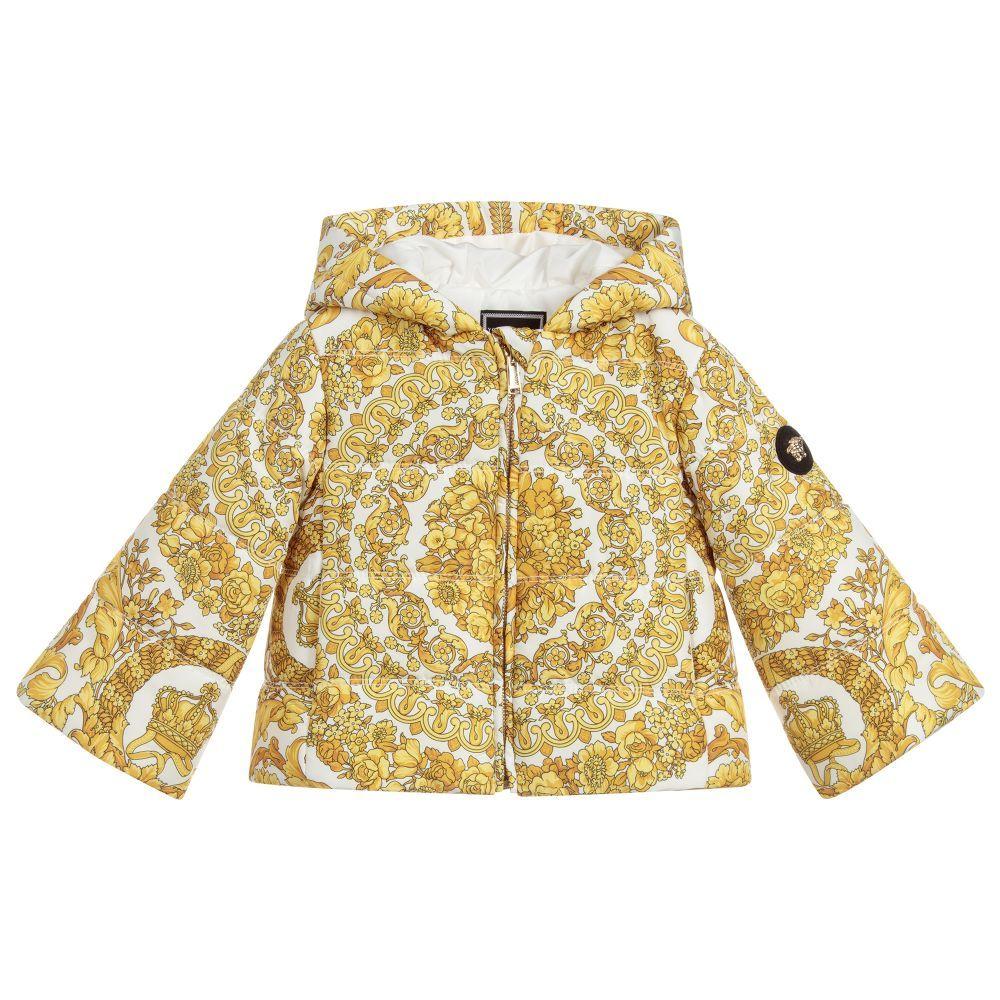 de8a50fed Gold BAROQUE Puffer Jacket