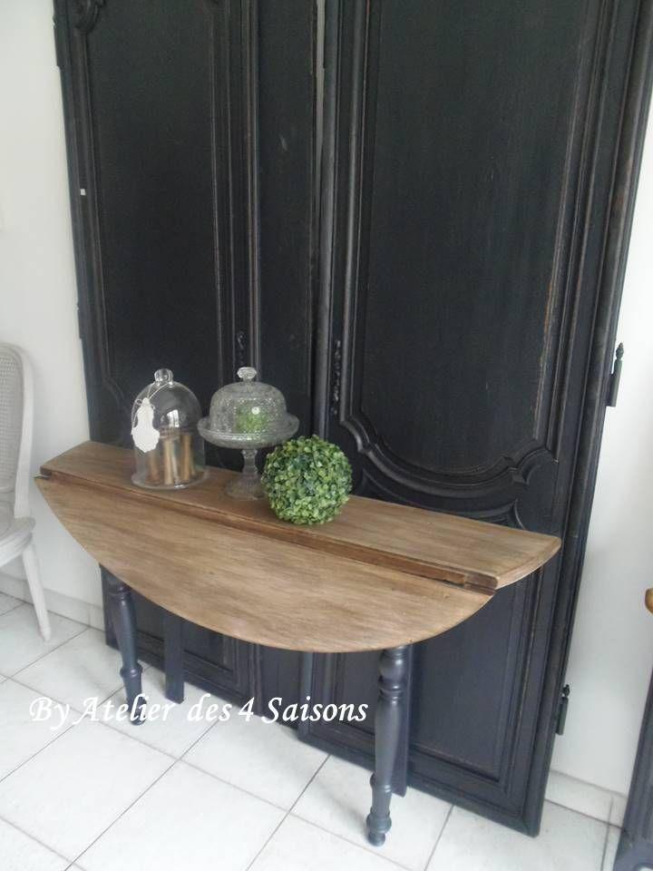 console table r alis e partir dune table ancienne atelier des 4 saisons relooking meubles. Black Bedroom Furniture Sets. Home Design Ideas