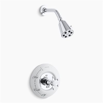 Kohler Co Shower Trim T132 3d Antique Six Prong Rite Temp Pressure Balancing Shower Faucet Trim Faucet Shower Faucet Shower Systems