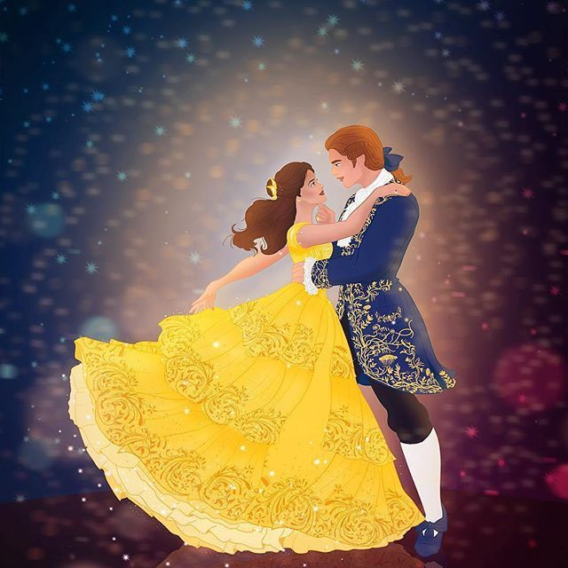 Princess Belle And Prince Adam Beauty And The Beast Gohana: Princess Belle And Prince Adam A Stunning Illustration By