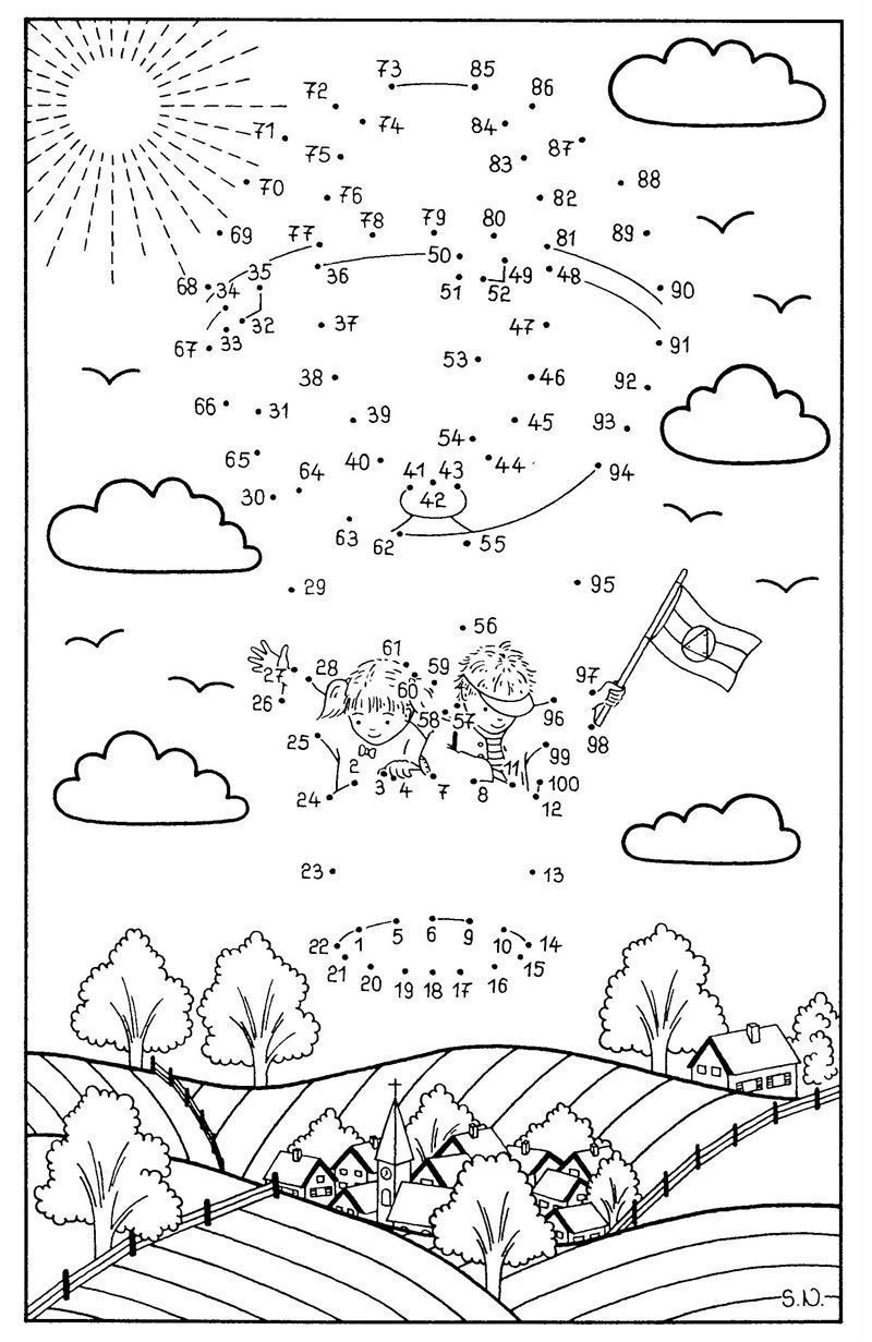 Http Www Schule Und Familie De Assets Images Malen Malen 20nach 20zahlen Malen Nach Zahlen Fesselballon Jpg Coloring Pages Connect The Dots Coloring For Kids