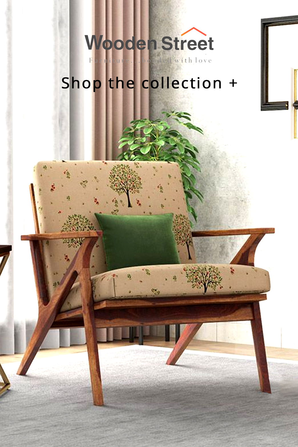 Buy Crisper Lounge Chair Linen Beige Pomme Online In India Wooden Street In 2020 Chair Living Room Furniture Furniture