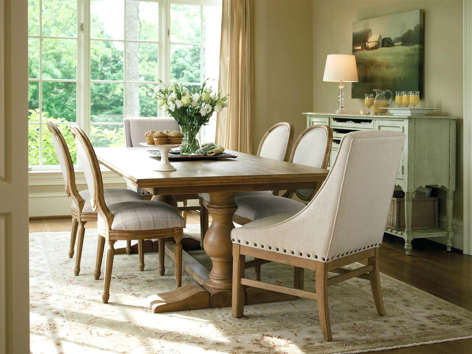 Room · French Country Dining Table With Bench Country Style ...