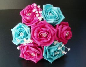 5 Year Anniversary Colors Pink Turquoise Blue