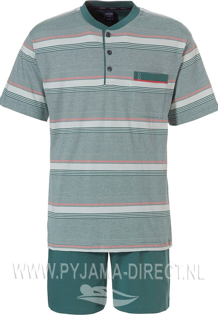 Robson Fine Lines Stripes Olive Green Red Single Jersey