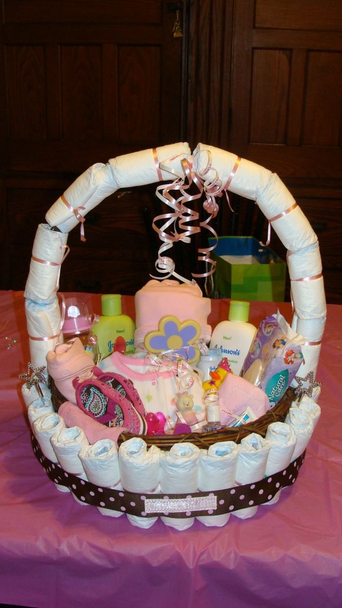 Christyscreations Diaper Cake Basket