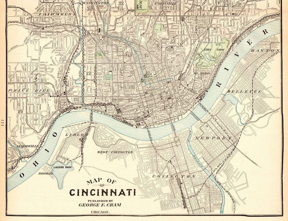 1905 Antique CINCINNATI City Map Vintage Map of Cincinnati ... on nyc map, pittsburgh map, cincinnati reds, los angeles map, midwest map, fairfield map, indianapolis map, cincinnati bengals, hamilton county neighborhood map, kentucky map, hamilton county, chicago map, new orleans map, cleveland map, montgomery oh map, masury map, milwaukee map, st. louis map, downtown cincinnati, maine map, ohio map, minneapolis map, columbus map, university of cincinnati, ohio river, jakarta map, john a. roebling suspension bridge, cincinnati/northern kentucky international airport,