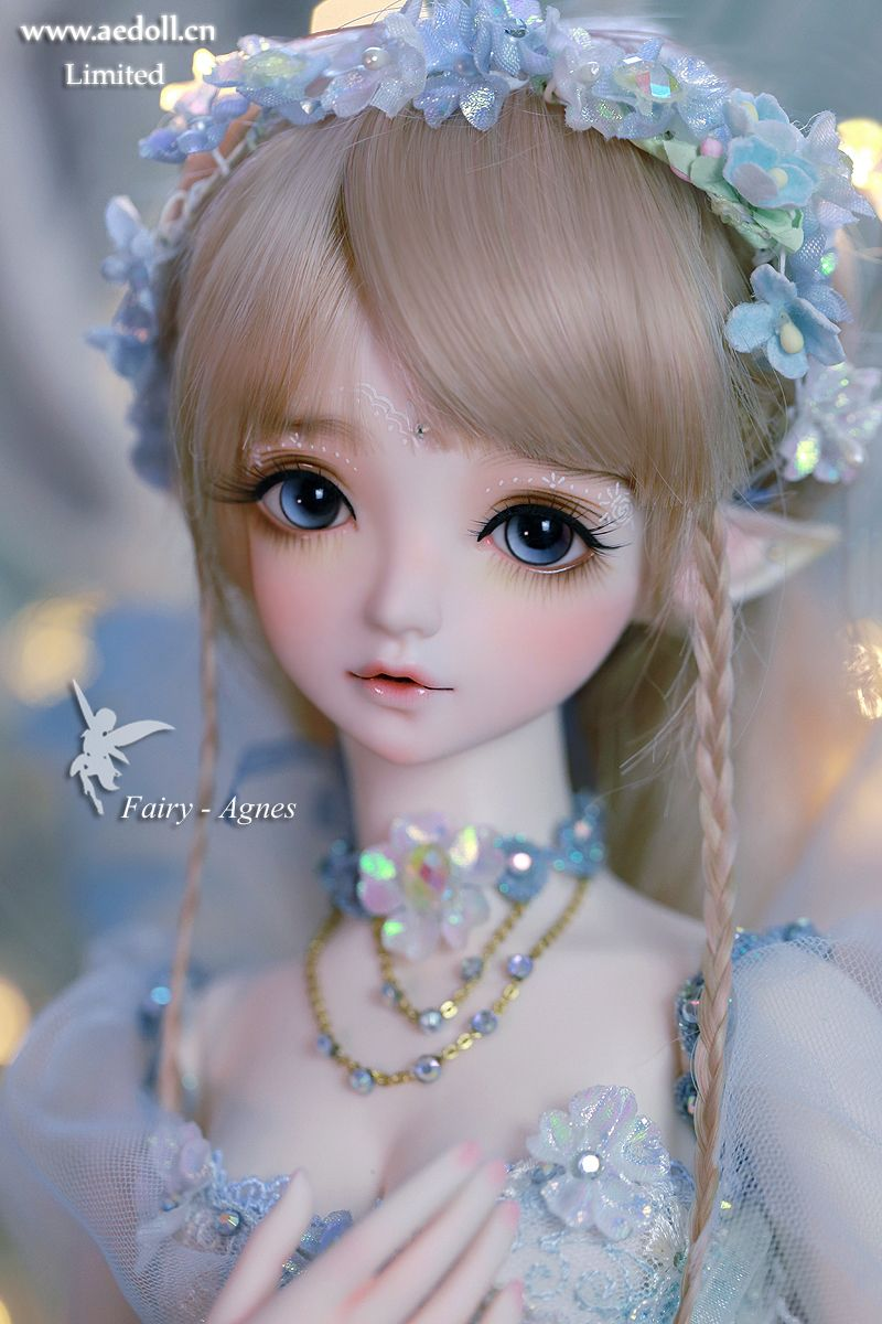 NEW 3D eye girl Barbie doll Chinese Blue costume Ancient fairy doll with costume