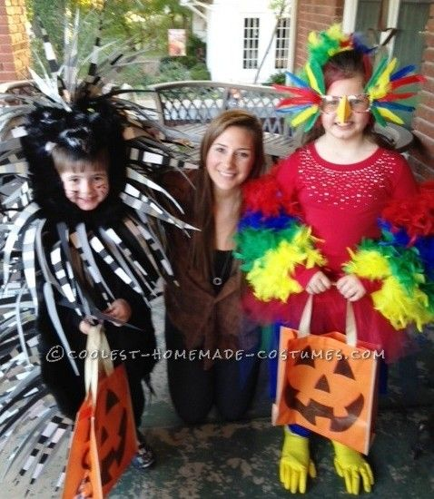 Coolest Parrot and Porcupine Costumes Halloween costume contest - creative halloween costumes ideas