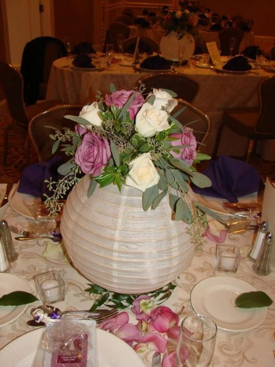 Paper Lantern Centerpieces. Probably the 6