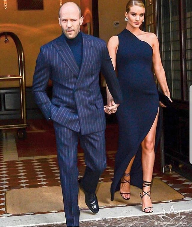 Blazers In Statham: Pinstripe Style Inspiration