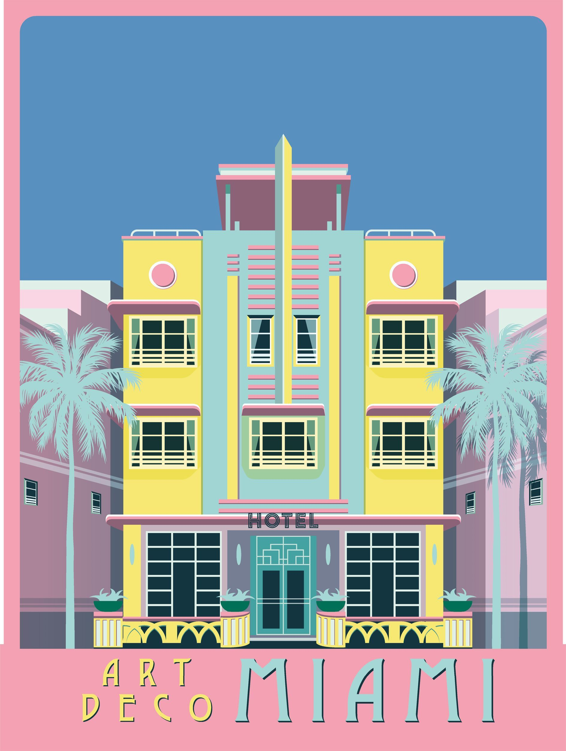 80s Art Retro Graphic Design Miami Art Deco Art Deco Illustration Art Deco Posters