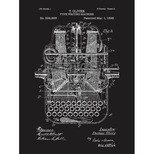 Found it at wayfair supply type writing machine blueprint graphic found it at wayfair supply type writing machine blueprint graphic art malvernweather Image collections