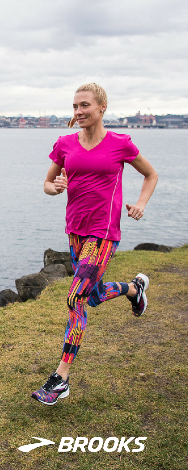 3c5de9d9891572 Gear up for the New Year | Running tops from Brooks Running | The Ghost  Crop Running Tight | Combining great looks with run-ready performance, the  women's ...