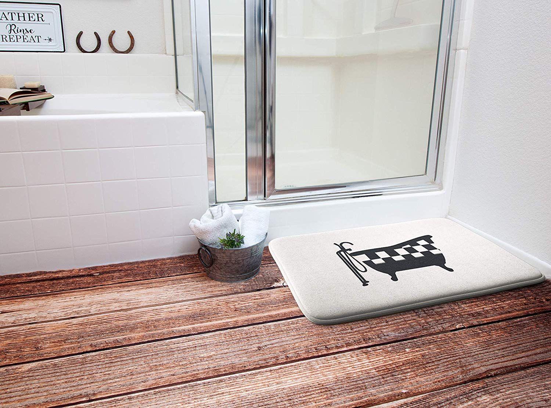 Amazon Com Farmhouse Memory Foam Bath Mat Bathroom Mats For