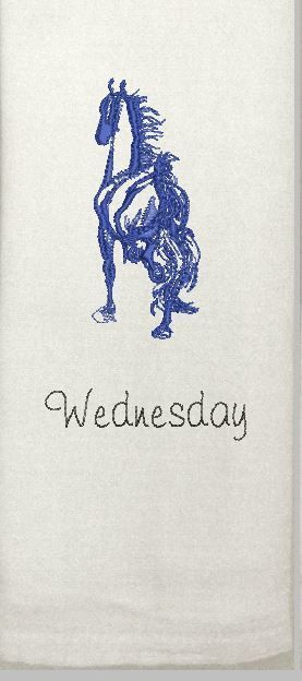 Saddlebred Horse Dishtowels with Days of the Week  For the Home   Pretty Horses