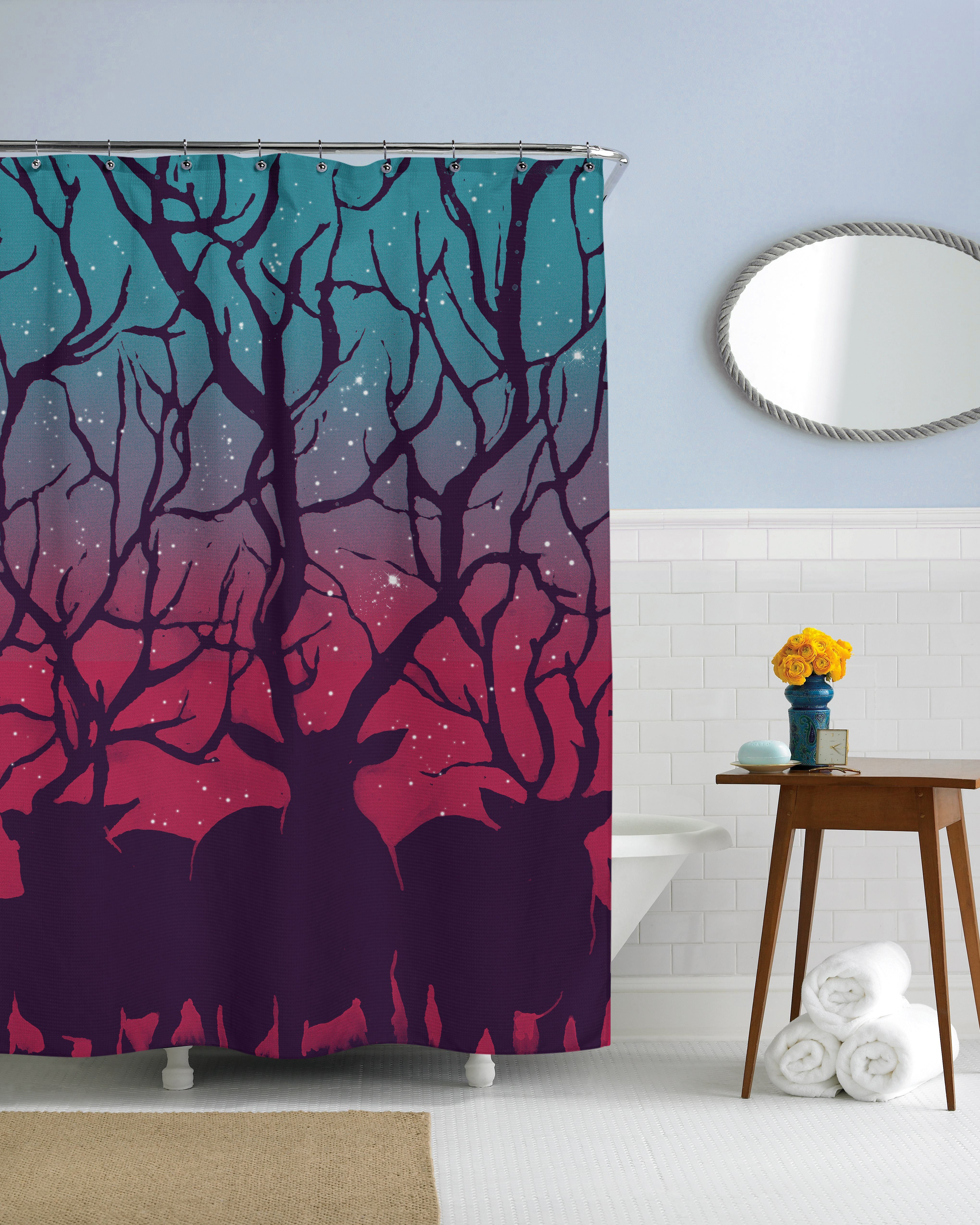 Deer Forest Shower Curtain By Sharp Shirter This Piece Was Created For Mathiole Lopes Castro From Brazil 50 Polyester 45 Cotton 5