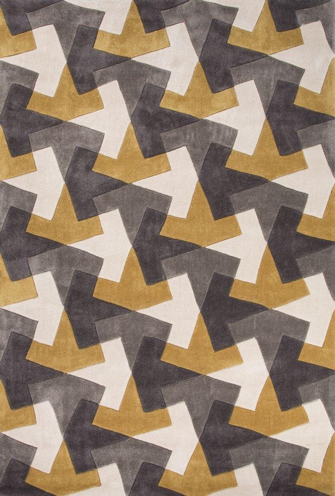 Jaipur Rugs Fusion Tesselation Fn29 Gold Gray Area Rug