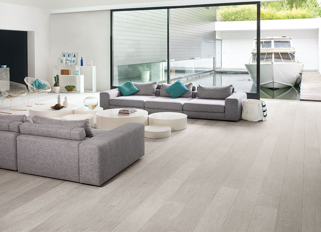 How to choose the ideal living room floor Grey laminate