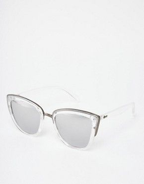 5b1ff2e385e Quay Australia My Girl Clear Mirror Cat Eye Sunglasses