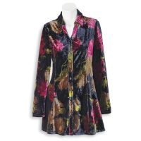 Painted Floral Velour Tunic