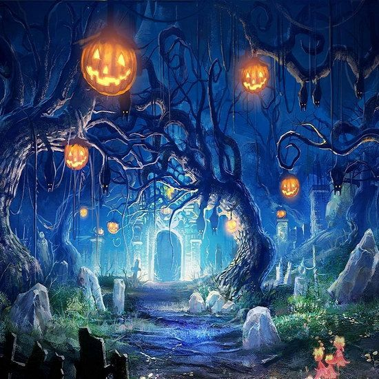 halloween backdrops photography background pumpkin photos background ha 045 - Halloween Backdrop