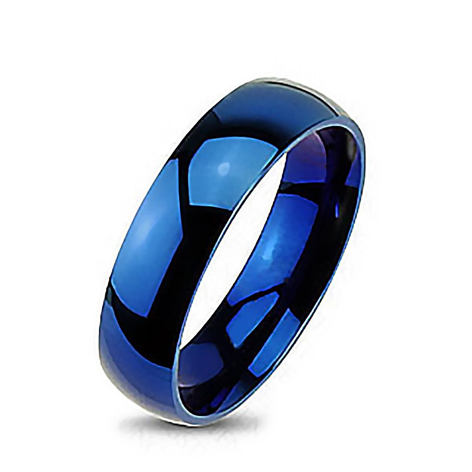 Blue Bayou Tungsten Carbide 6mm Polished Traditional Wedding Band
