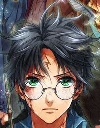 Epic Anime Style Harry Potter Fan Art Appears Harry Potter Anime Harry Potter Sketch Harry Potter Artwork