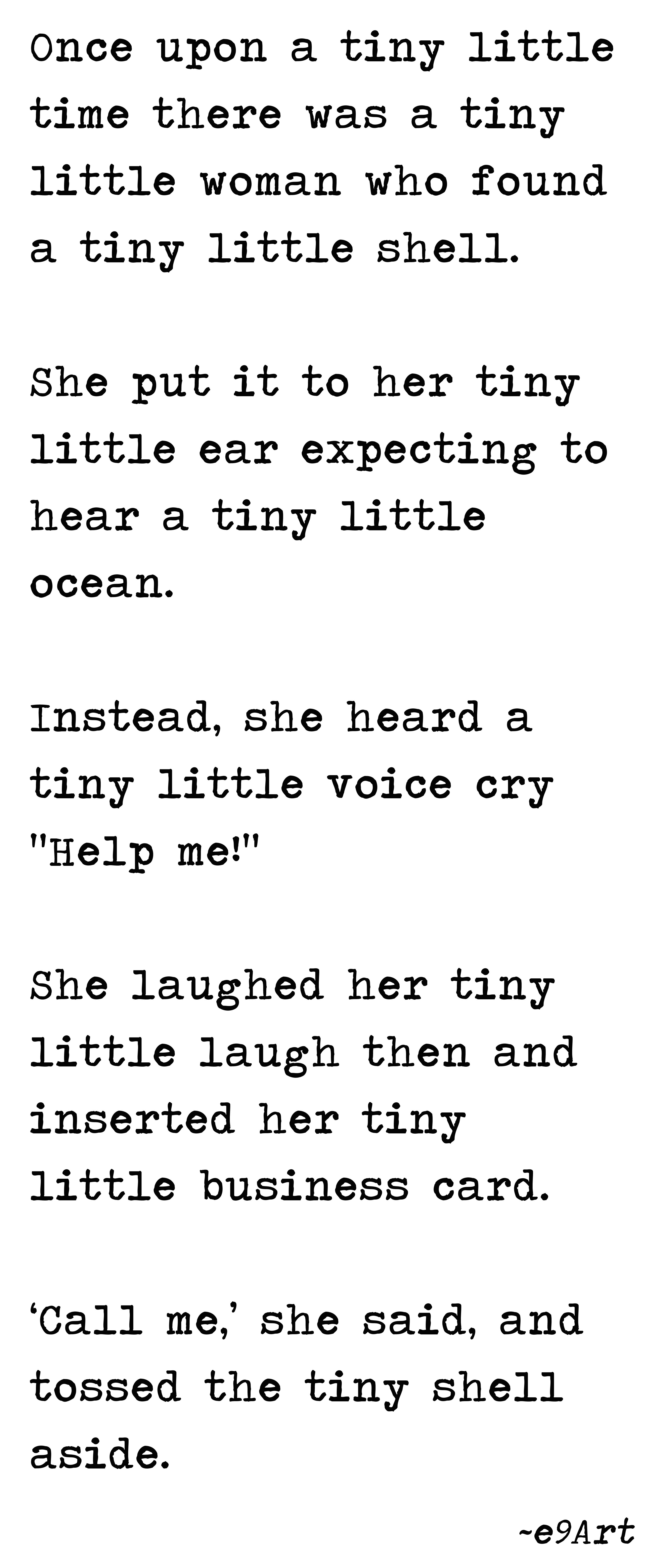 000 A Tiny Little Shell by e9Art (Microfiction, Very Short