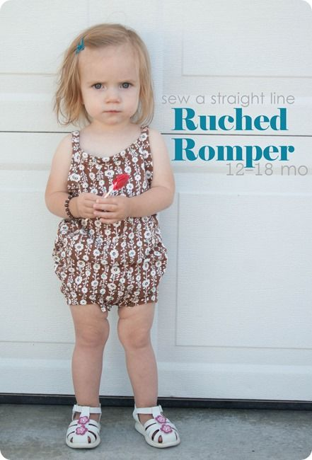 a241436d8f FREE ruched romper pattern (size 12 -18 months) and tutorial ...