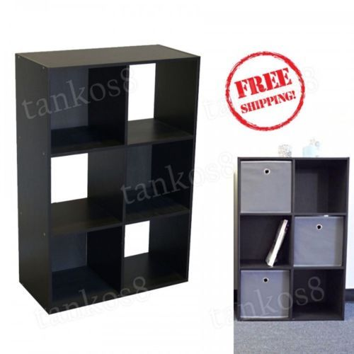 Storage-Shelves-6-cell-Cube-Closet-Organizer-Bookshelf-College-Furniture-Indoor